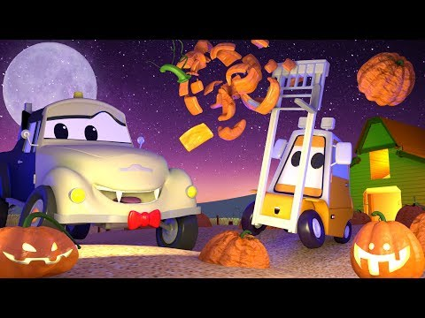 Special HALLOWEEN ! Getting reafy for Halloween ! - Tom the Tow Truck's Car Wash | Cartoons for kids