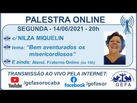 Assista: Palestra Online - c/ NILZA MIQUELIN (14/06/2021)