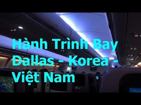 Hành trình bay Dallas - Korea - Viet Nam [Vlog 21]