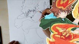 Let´s Draw Tsunayoshi Sawada