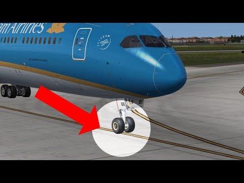 Làm sao để máy bay chạy giữa đường băng/̣đường taxi