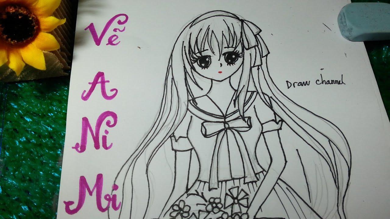 Cách Vẽ và tô màu ANIME siêu cute, đẹp như tranh lại dễ nhé/draw anime