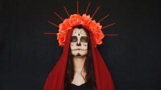 Halloween make up Katrina santa muerte * Санта муэрте Катрина макияж грим на хэллоуин