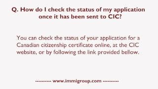 How do I check the status of my application once it has been sent to CIC?