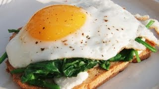 Primal Spinach Egg & Goat Cheese Sandwich Recipe