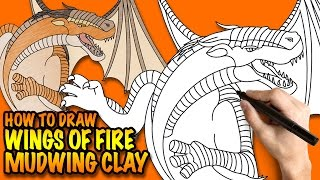 How to draw Wings of Fire Mudwing Clay - Easy step-by-step drawing lessons for kids