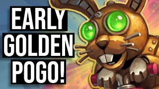 Early GOLDEN POGO-HOPPER Action! | Battlegrounds | Hearthstone