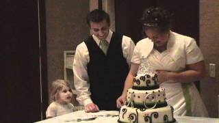 Funny Wedding Cake Cutting (chelsea Makes Cameo Appearance)
