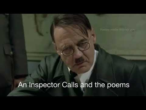 Hitler reacts to AQA English literature paper 2 GCSE 2018 (An Inspector Calls + Love&Relationships)