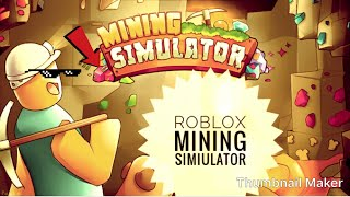 Roblox Mining Simulatior