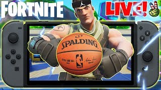 Pro Nintendo Switch Player! // *NEW* NBA SKINS? // (Fortnite Battle Royale LIVE)
