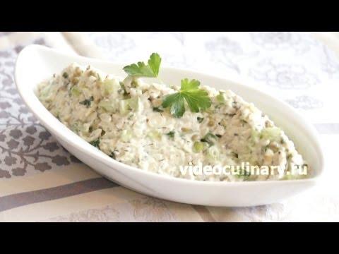 Салат с рисом и тунцом консервированным и кукурузой