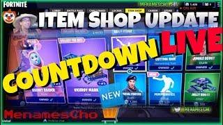 📺Menamescho's LIVE Ps4 💫 ITEM SHOP UPDATE 💫 COUNTDOWN 🕐 Fortnite Battle Royale - Wed 8 8 18