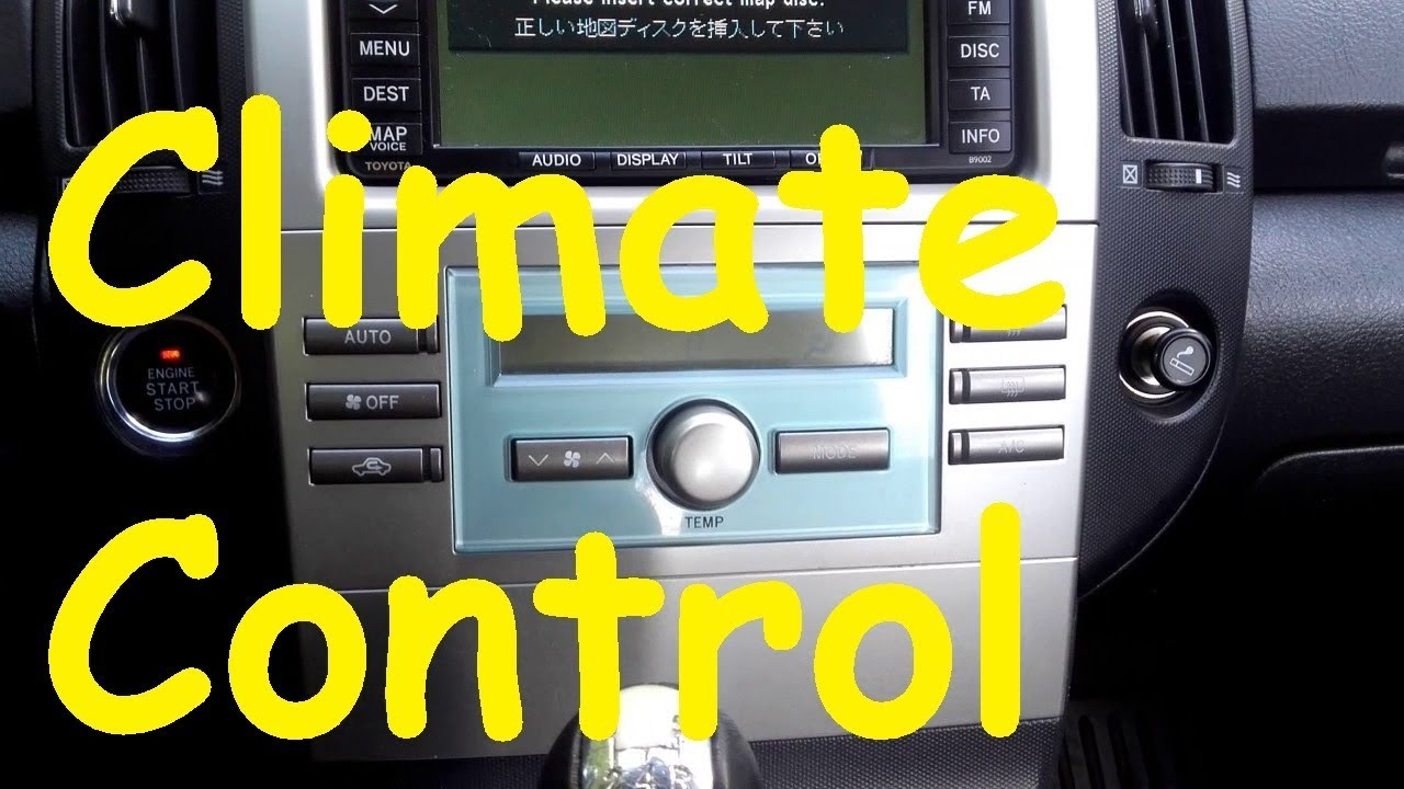 toyota climate control diagnostic climate control fix toyota how to toyota self test [ 1280 x 720 Pixel ]