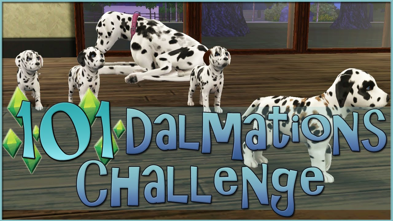 Sims 3 101 Dalmatians Challenge The Puppies Are Born Episode