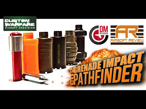 GRENADE PATHFINDER IMPACT CO2 / CUSTOM WARFARE [ AIRSOFT REVIEW ] DM DIFFUSION