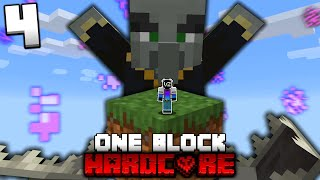 I Almost Died in HARDCORE One Block Skyblock! (#4)