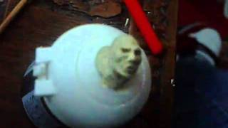 face sculpt using 2 part epoxy putty roughly warhammer 40k scale