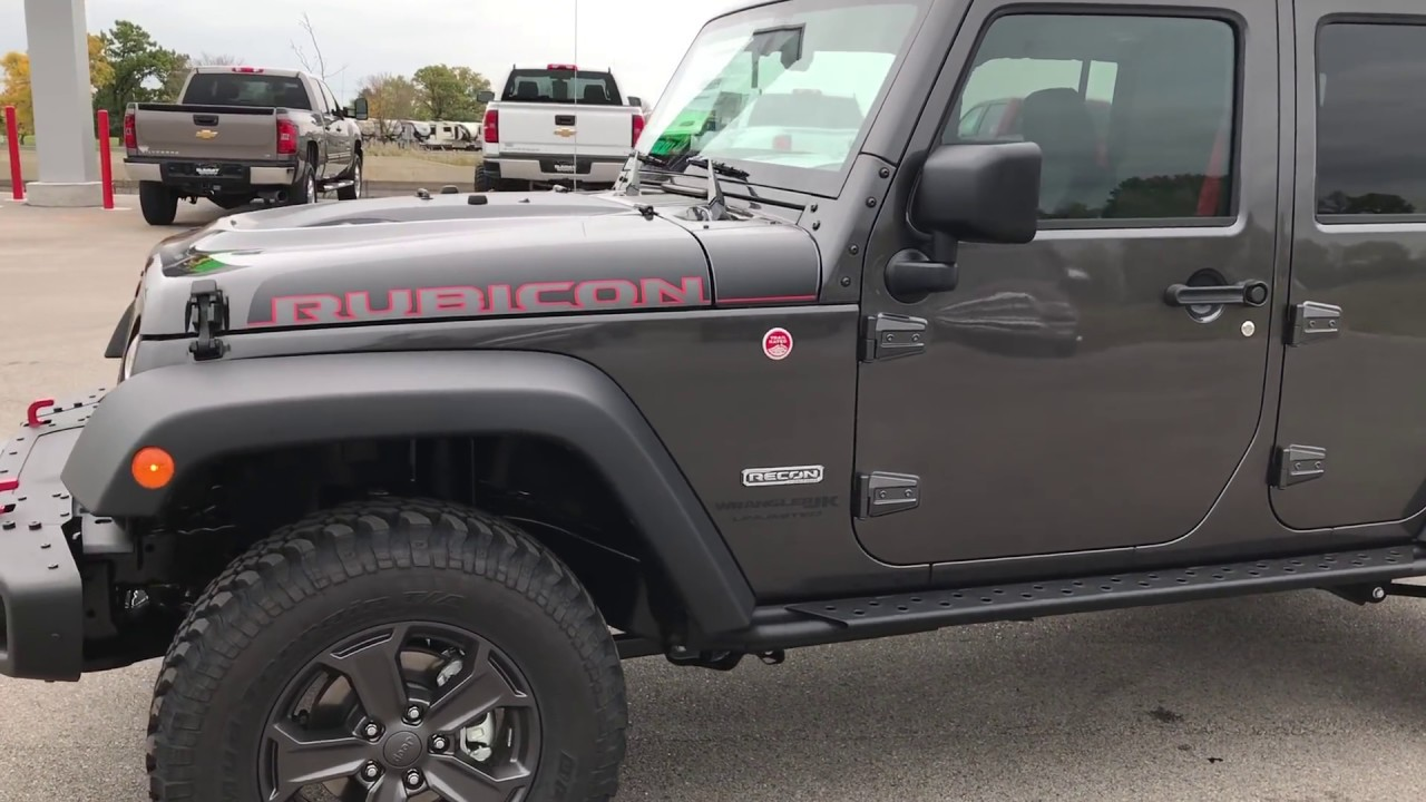 The Brand New 2018 Jeep Wrangler Jk Rubicon Recon Walk