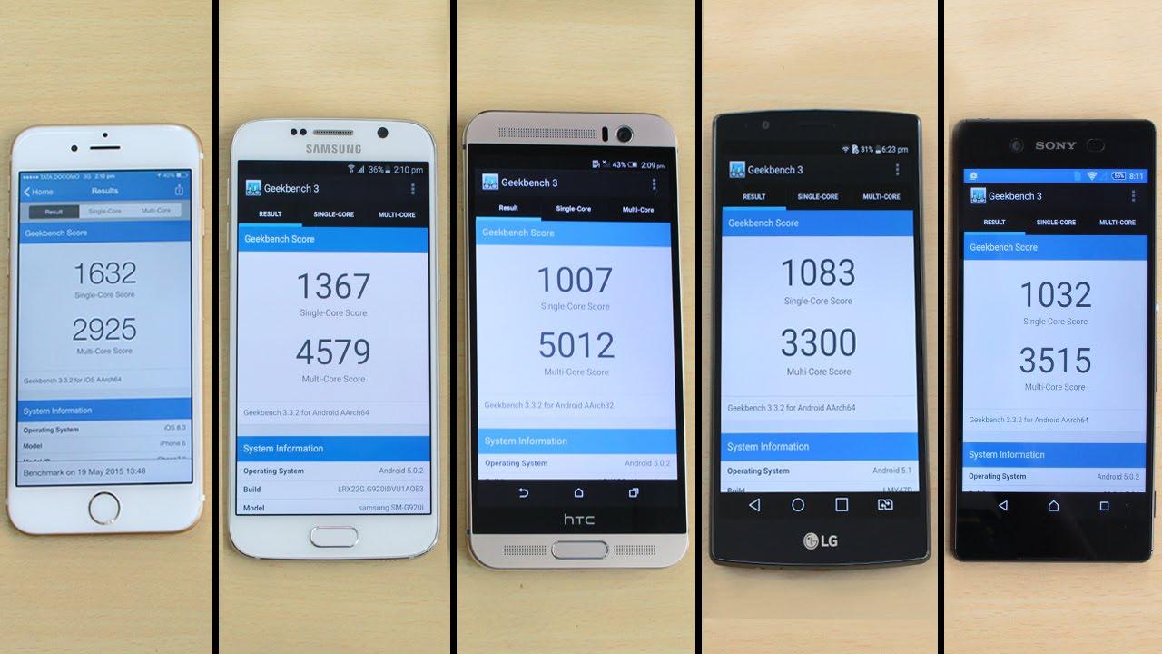 S8+ vs iphone 6 Plus vs xperia z3