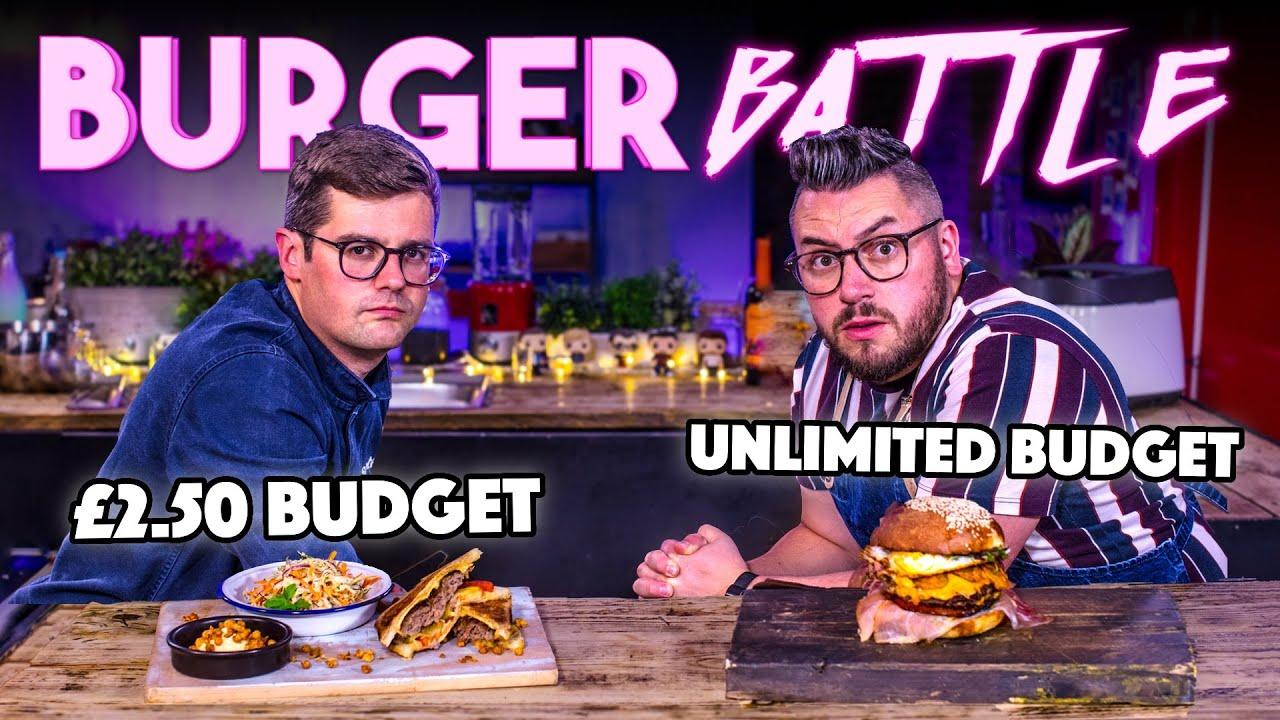 BURGER BUDGET BATTLE   CHEF (£2.50 Budget) vs NORMAL (Unlimited Budget)   SORTEDfood