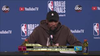 Kevin Durant | Game 1 NBA Finals Press Conference
