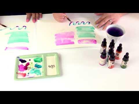 Calligraphy Demo with Prima's New Liquid Watercolors