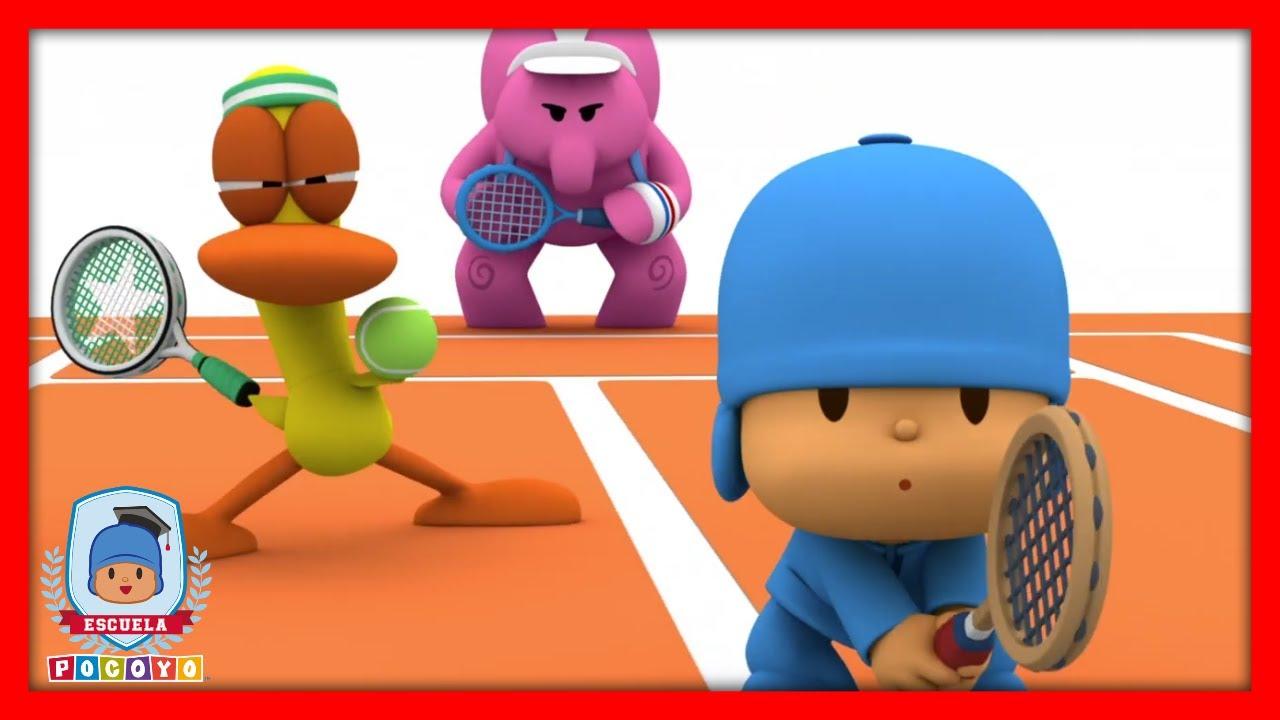 🎓 Escuela Pocoyó - 🎾 Aprende Los Deportes: Tenis | Caricaturas y dibujos animados educativos