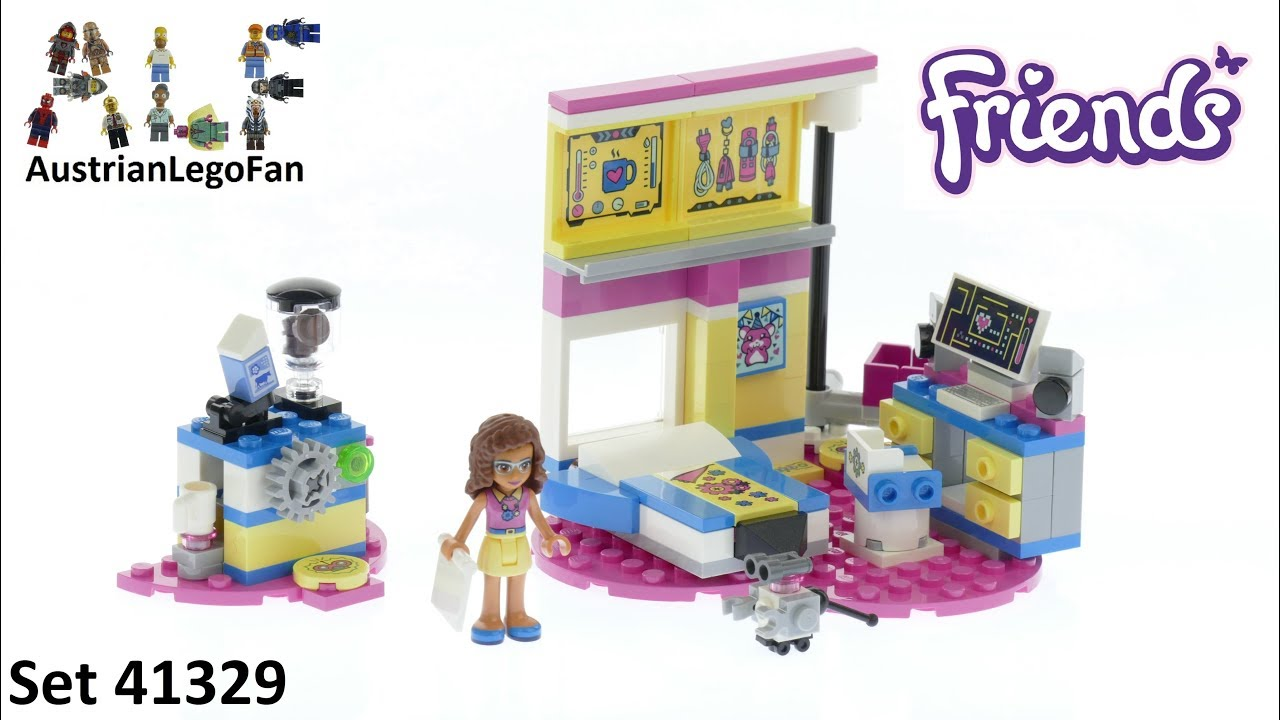 Lego Friends 41329 Olivias Deluxe Bedroom Lego Speed Build Review