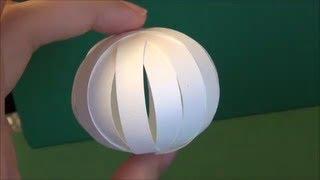 「紙で作る球体」ペーパークラフト