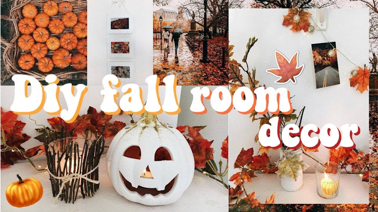 diy fall autumn room decor cheap easy rebecca ellie youtube. Black Bedroom Furniture Sets. Home Design Ideas