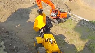 RC SKIDDER, EXCAVATOR & BULLDOZER BIG ACTION AT THE RC MINE!