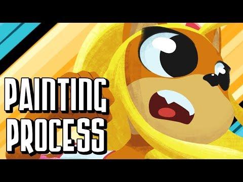 Coco Bandicoot - Painting Process