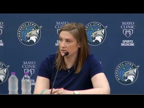 Lynx guard Lindsay Whalen's retirement press conference