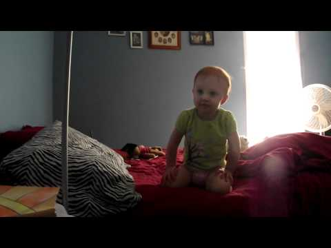 Baby Falling Off The Bed..