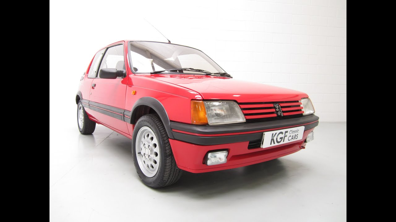 an original unmolested low owner low mileage peugeot 205 1 6 gti in excellent condition sold. Black Bedroom Furniture Sets. Home Design Ideas