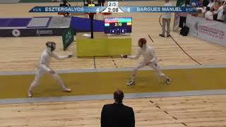 FE 2018 T32 05 M E Individual Yerevan ARM U23 European Championships YELLOW ESZTERGALYOS HUN vs BARG