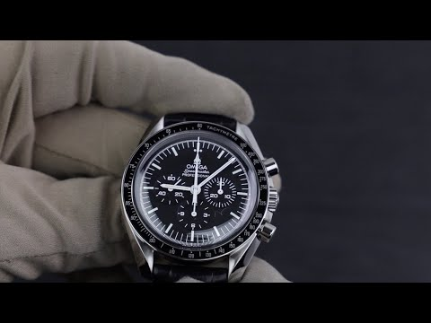 Omega Speedmaster Moonwatch Hesalite With Leather Strap 311.33.42.30.01.001 Unboxing [4K]