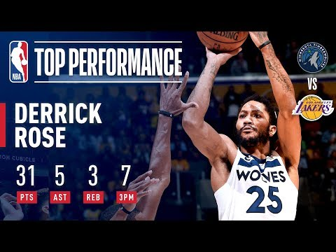 Derrick Rose Drops 31 And A CAREER HIGH 7 3-Pointers In Los Angeles | November 7, 2018