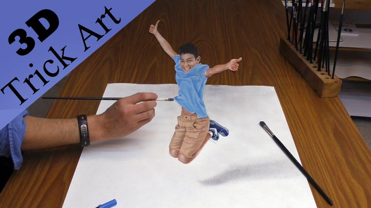 Realistische 3d Zeichnung Optische T Uschung Youtube