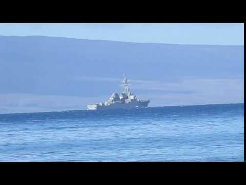Navy Ship off of Lahaina, Maui