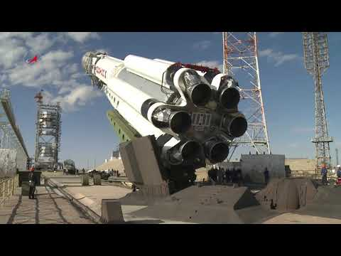 Proton-M Rocket Prepares to Launch AsiaSat 9 Satellite