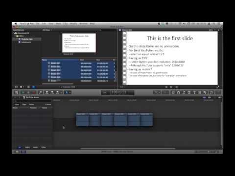 How to create a YouTube movie with PowerPoint, Keynote and Final Cut Pro X
