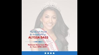 National American Miss Farewell DVD by Pageants 2 Go - Alyssa Dass