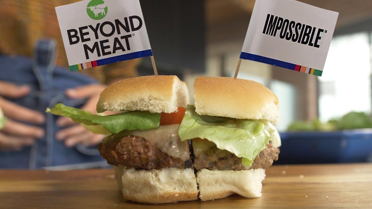 Impossible Burger vs Beyond Meat Burger Taste Test