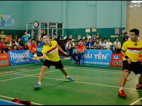 Chung kết cầu lông Cúp truyền hình Cần Thơ 2016 Triệu/Thắng/ (Flypower) vs Việt/Anh (Quang Sport)