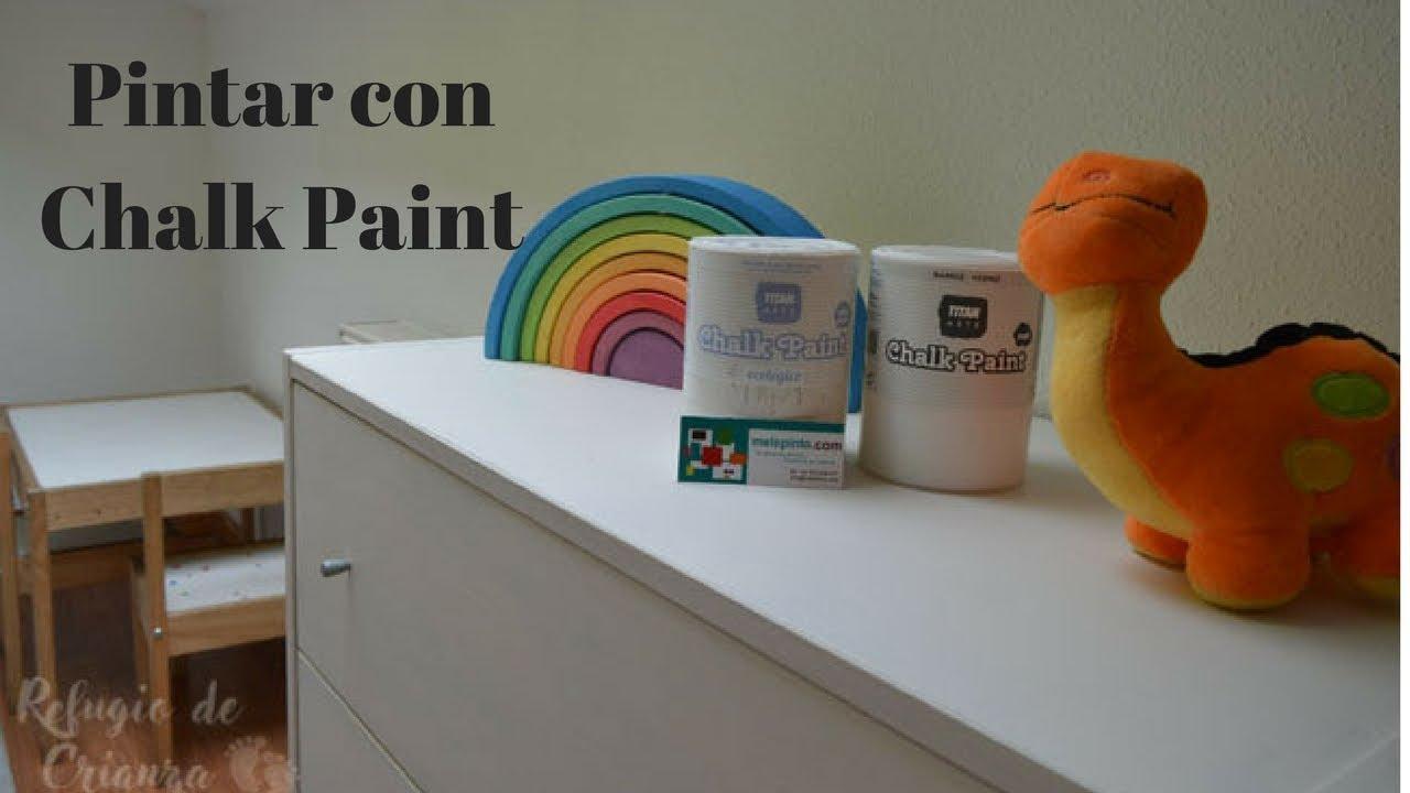 Pinta tus muebles de melamina chapa tipo ikea etc con for Chalk paint muebles ikea