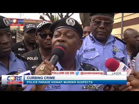 LAGOS POLICE PARADE KIDNAP, MURDER SUSPECTS...watch & share...!