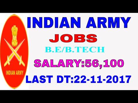 Indian army technical graduate jobs||B.E/B.TECH||job news in telugu||employment news