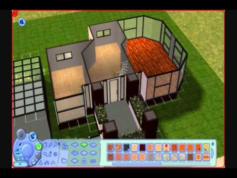 The sims 2 building a modern house pseudo tutorial youtube for Minimalist house sims 2